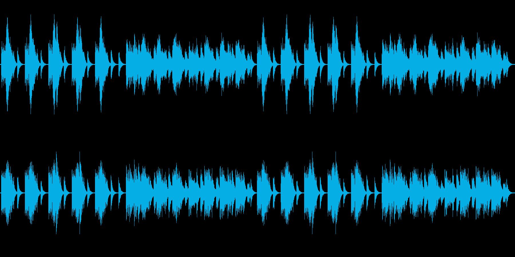 和風なヒーリングミュージックの再生済みの波形