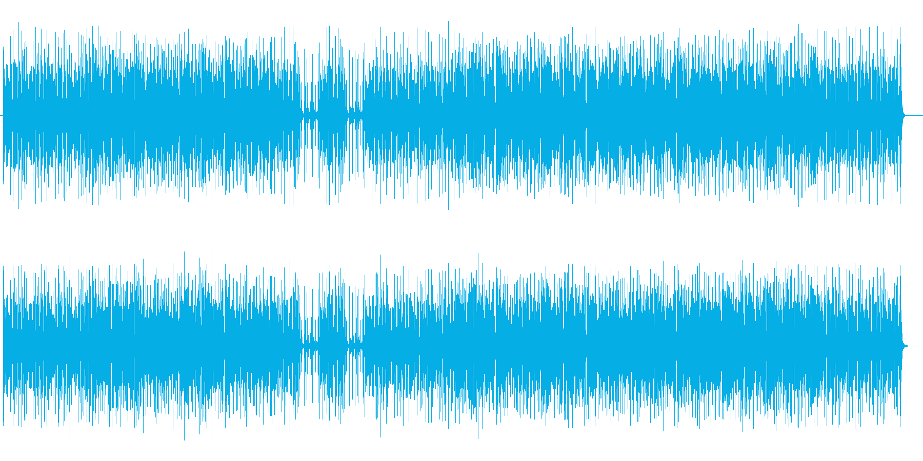 ほのぼのとした快適リズムのミュージックの再生済みの波形