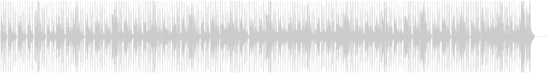 ファンキーでノリノリなBGMの未再生の波形