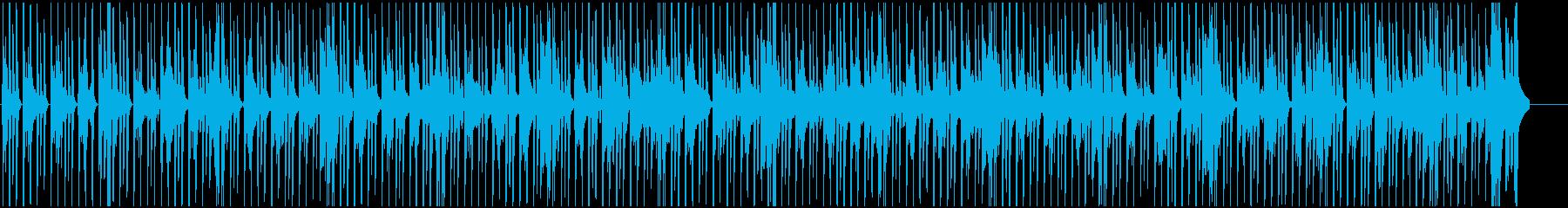 ファンキーでノリノリなBGMの再生済みの波形