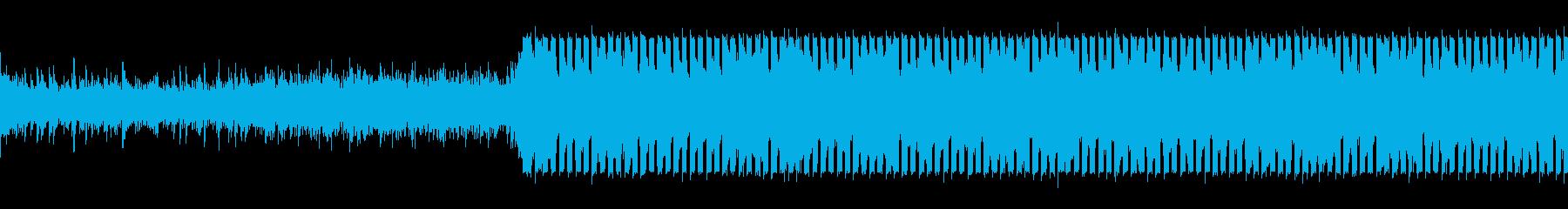 トランスのテイストを加えたEDMの再生済みの波形