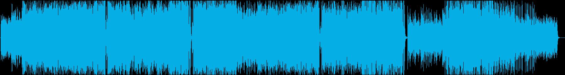 サックスとピアノの明るいジャズサンバの再生済みの波形