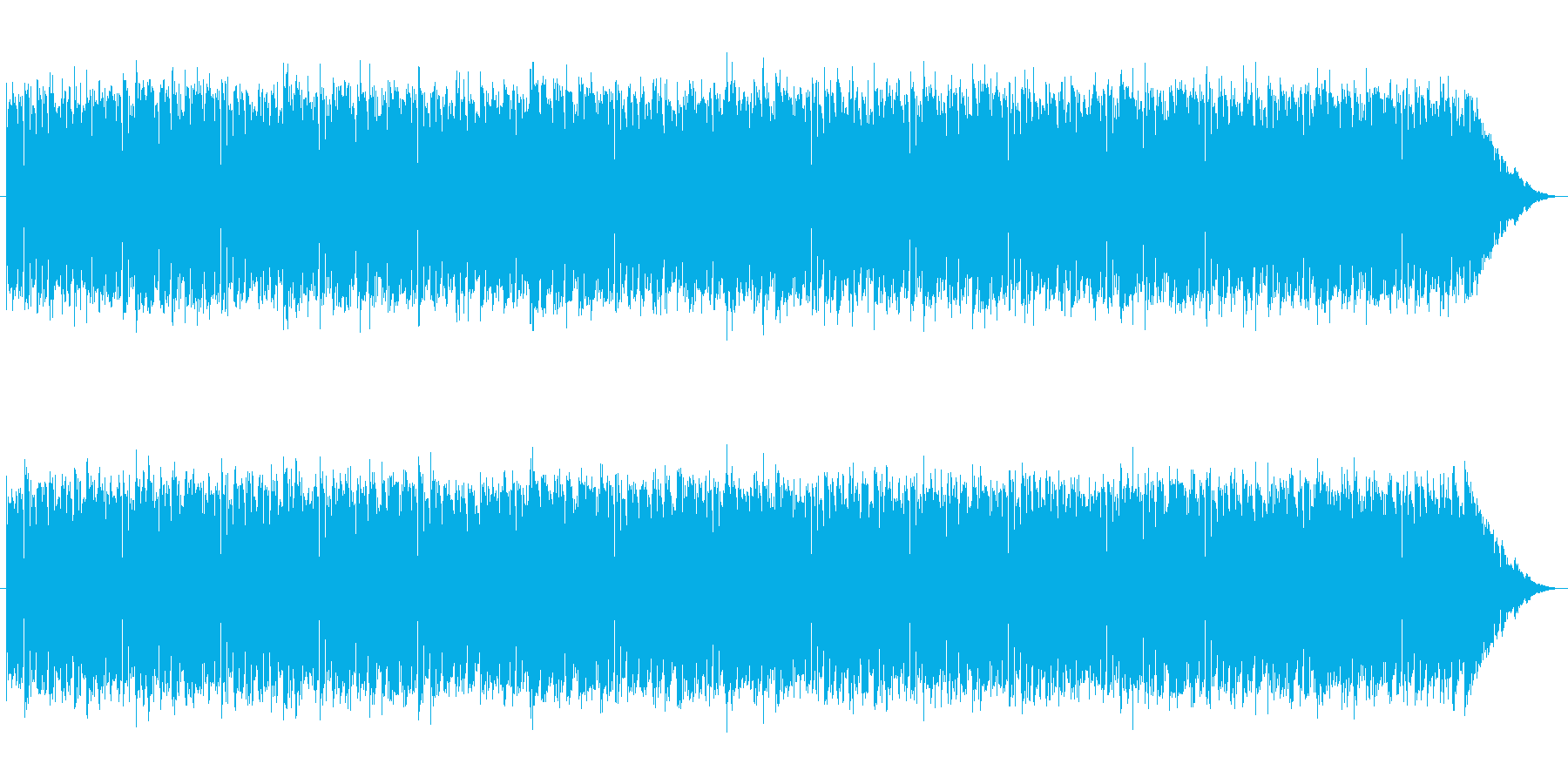 ダブステップ風の近未来的な4つ打ちEDMの再生済みの波形