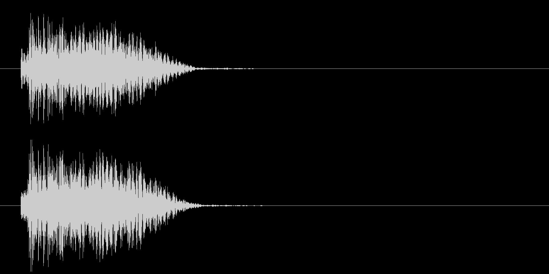強烈な打撃音の未再生の波形