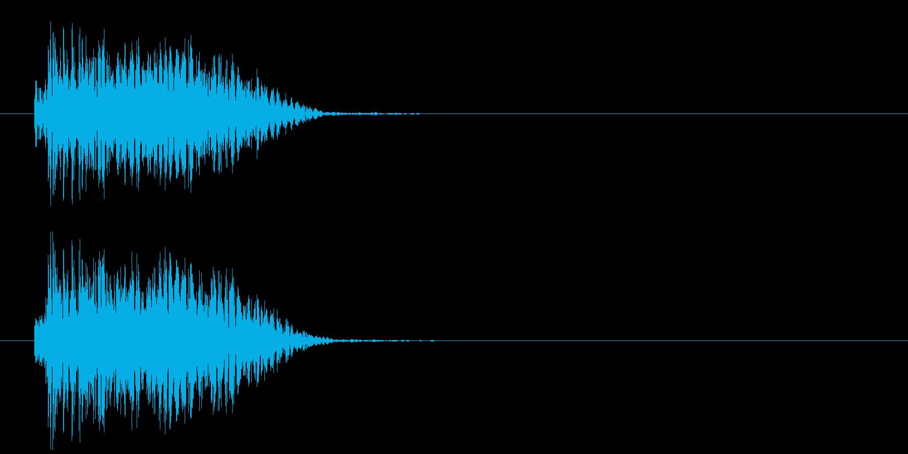 強烈な打撃音の再生済みの波形