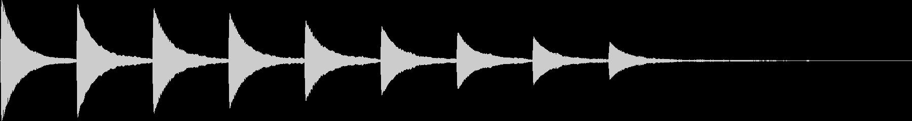 アイキャッチ・テロップ・場面転換・下降の未再生の波形