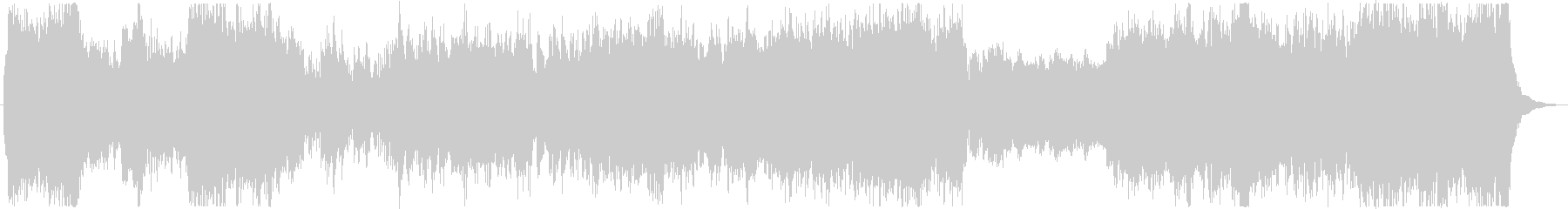 Robot animation style BGM of magnificent scale feeling's unreproduced waveform