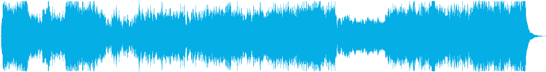 Robot animation style BGM of magnificent scale feeling's reproduced waveform