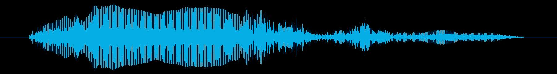 10代の女性:泣きながら痛みを伴う叫びの再生済みの波形