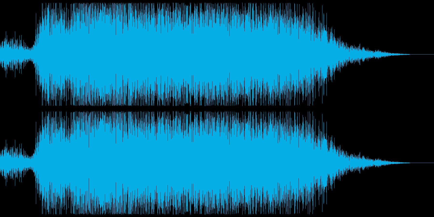 プシュー(エアー音、蒸気音)の再生済みの波形