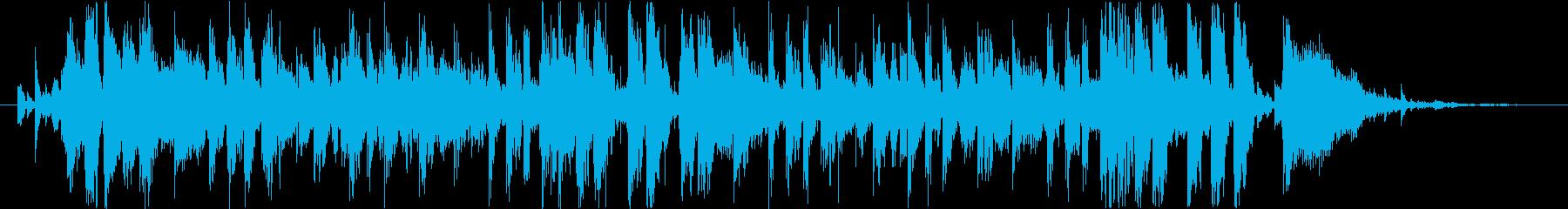 渋谷系のキュートな動画向きジングルの再生済みの波形