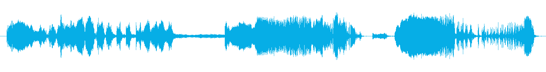 気球のきしむ音:長い気味悪い空気の放出の再生済みの波形