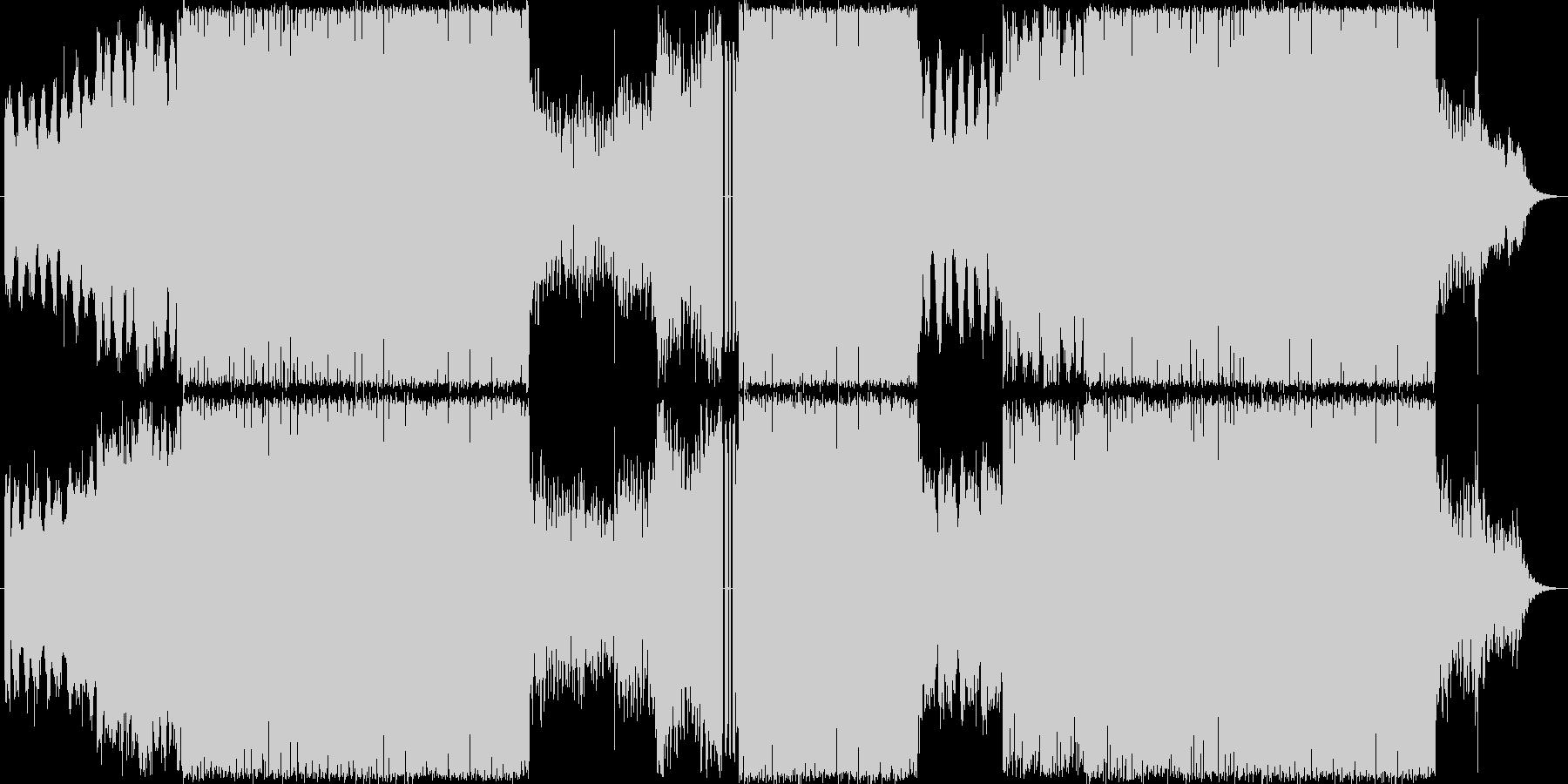 オーケストラ+ロック緊迫戦闘シーン向けの未再生の波形