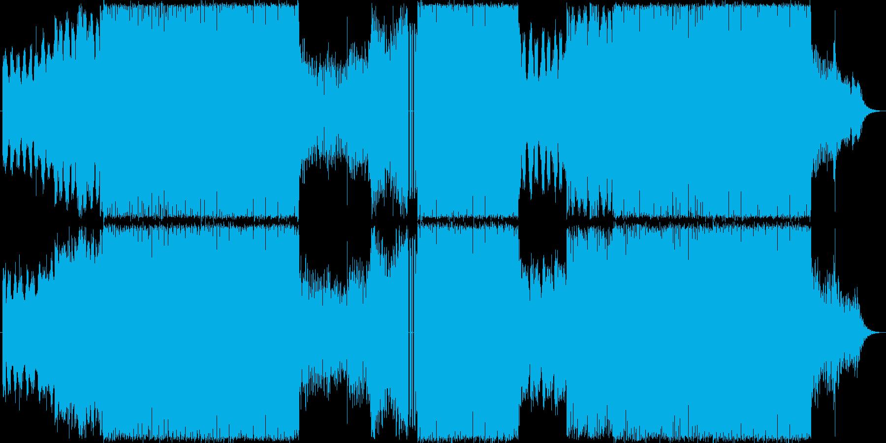 オーケストラ+ロック緊迫戦闘シーン向けの再生済みの波形