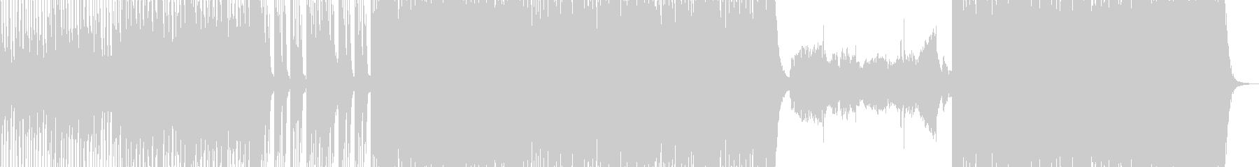 ダンサブルな和風三味線曲の未再生の波形