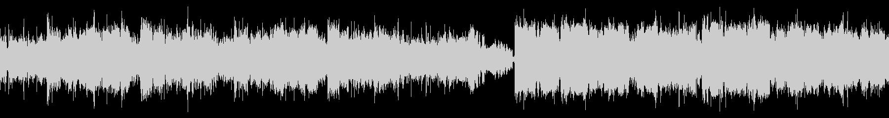 尺八と和太鼓の猛々しいBGMの未再生の波形
