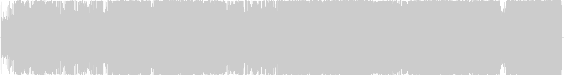 生演奏。サビで4つ打ちになるロックの未再生の波形