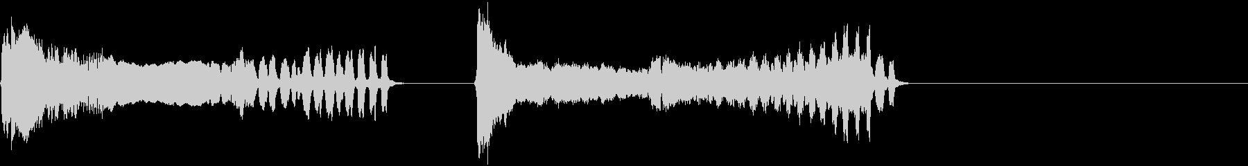 トンビの鳴き声(ピーヒョロロ)の未再生の波形