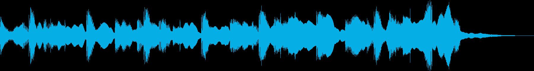 綺麗なテクノポップのジングルの再生済みの波形