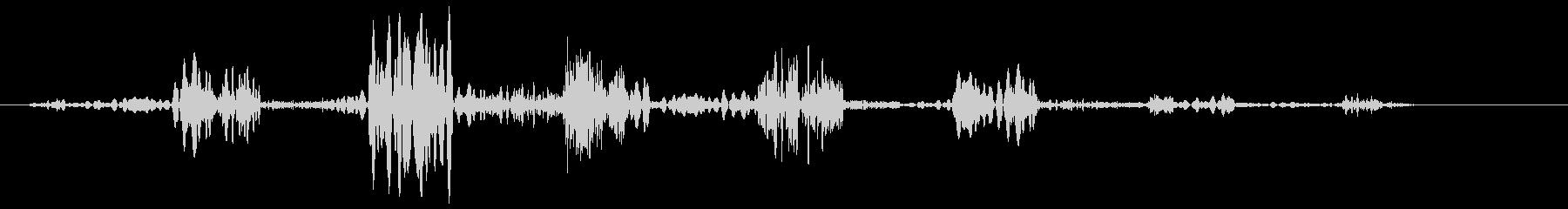 ピュルルルー(ロープを巻き取る音)の未再生の波形