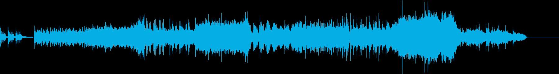 ピアノのメロディが印象的なオーケストラ曲の再生済みの波形