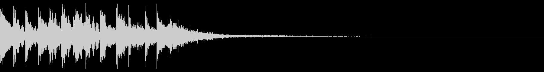 ジャララン 下降 トイピアノの未再生の波形