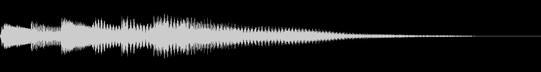 綺麗なハープのサウンドロゴの未再生の波形
