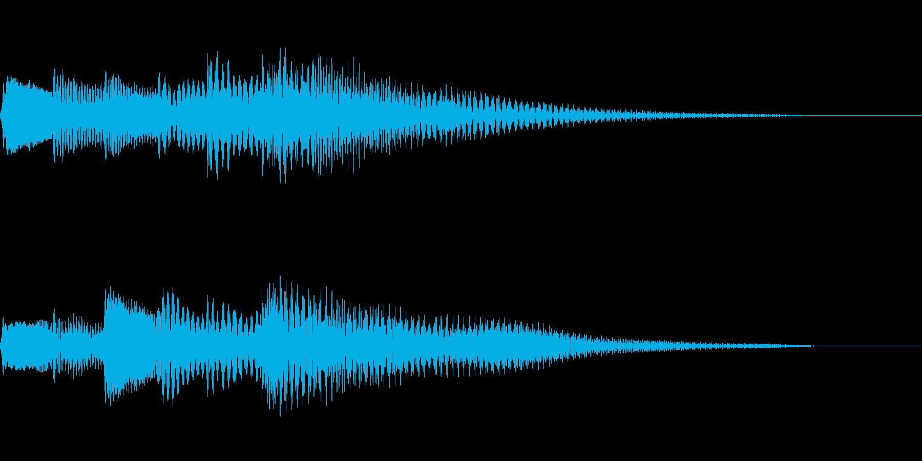 綺麗なハープのサウンドロゴの再生済みの波形