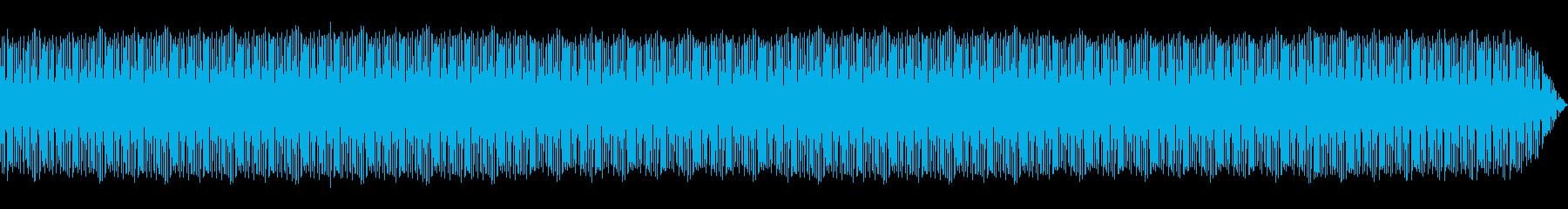 テクノ ミドルテンポなベースとビートの再生済みの波形
