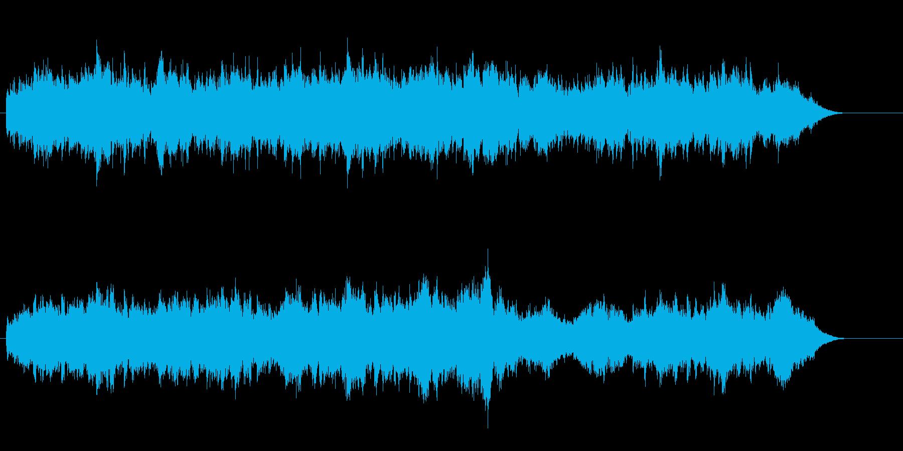 清涼な空気を思わせる、アンビエントな曲の再生済みの波形