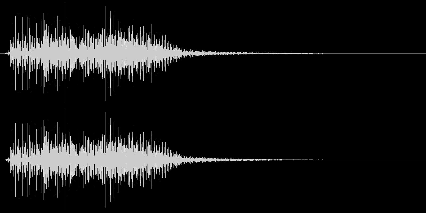ピロリチン(アップグレードボタン音)の未再生の波形