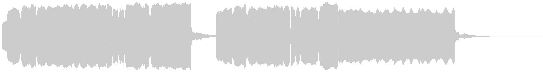 チャルメラ、屋台のラーメンのメロディーの未再生の波形