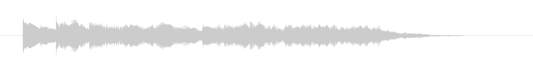 【ジングル】ピアノと弦による爽やかな曲2の未再生の波形
