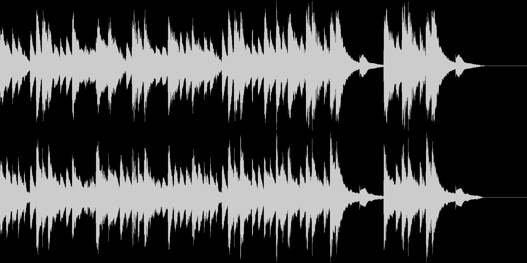 ピアノと木琴のほのぼのとしたBGMの未再生の波形