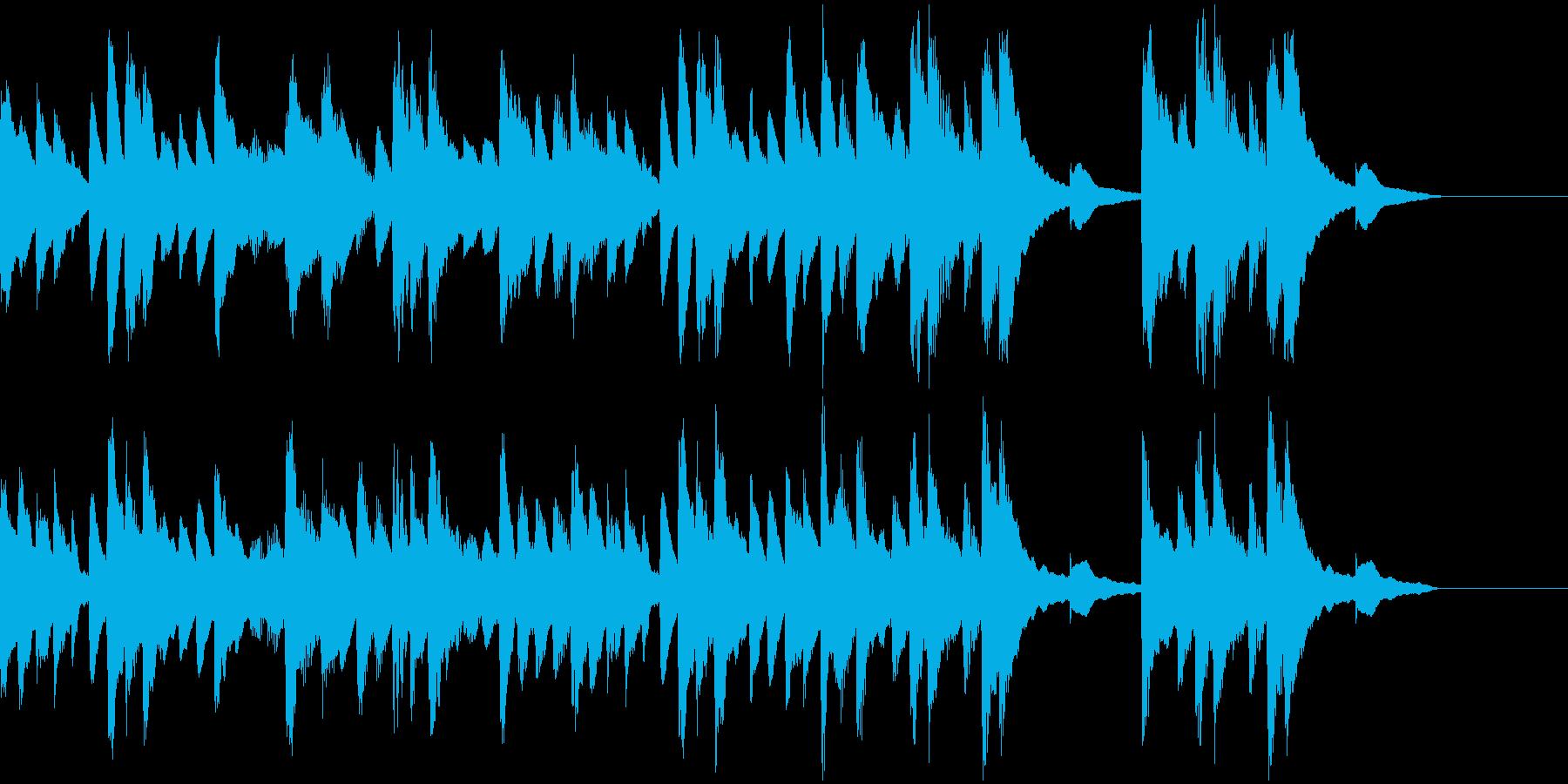 ピアノと木琴のほのぼのとしたBGMの再生済みの波形