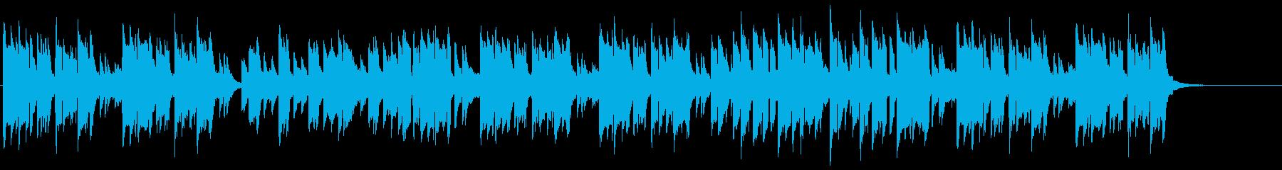 サックス、ピアノのほのぼの日常系ポップスの再生済みの波形