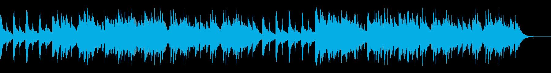 ささやかなピアノの再生済みの波形