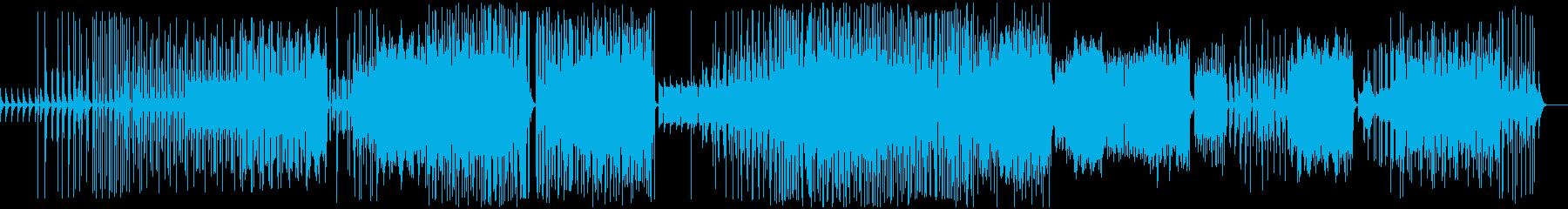 斬新な映像やビデオに最適グリッジ音楽の再生済みの波形