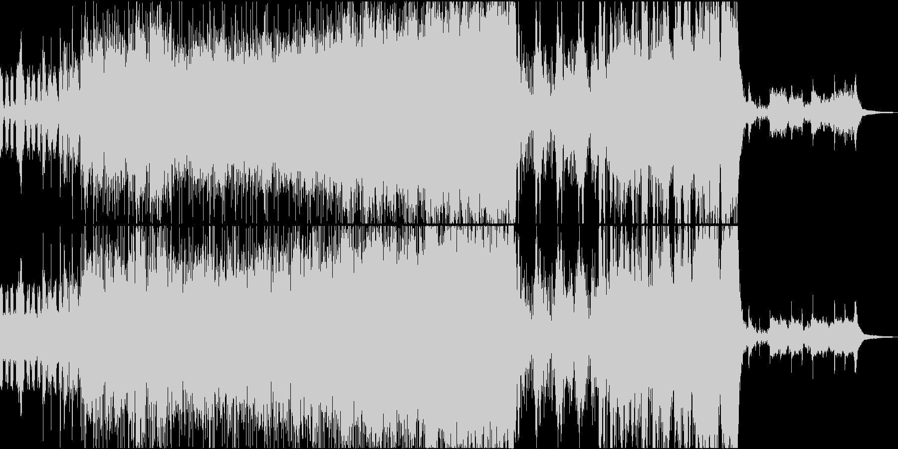戦闘・疾走感・ヒロイックなオーケストラの未再生の波形