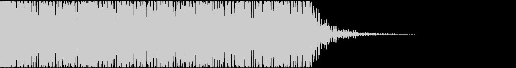 【エレクトロニカ】テクノ、ジングル3の未再生の波形