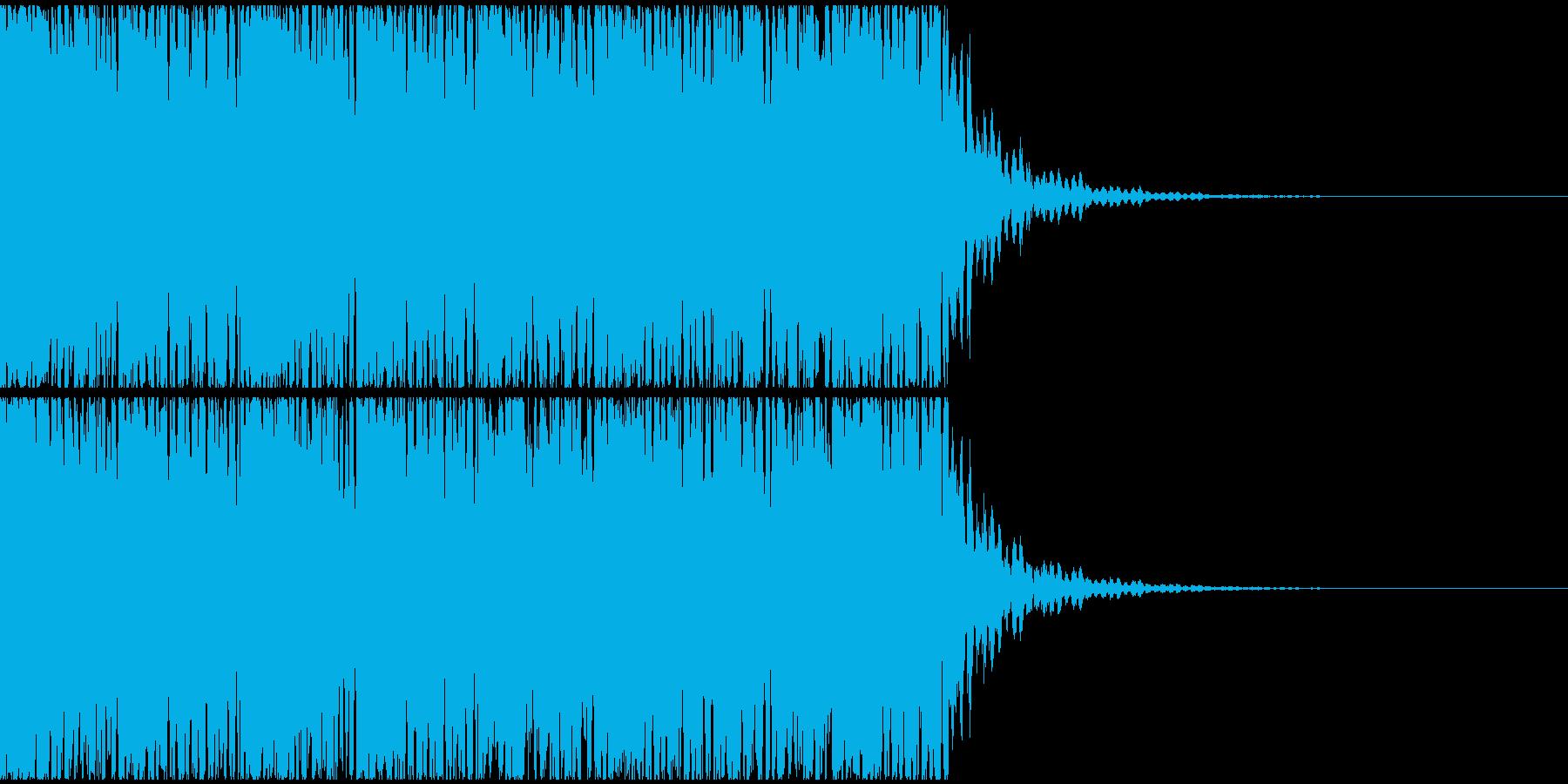 【エレクトロニカ】テクノ、ジングル3の再生済みの波形