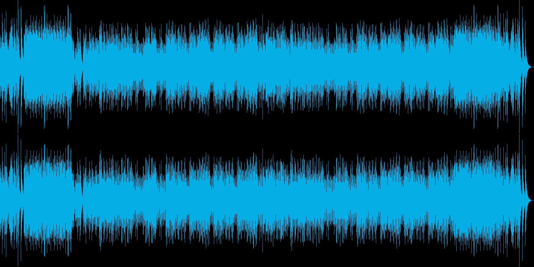 穏やかで暗さもあるオルゴール曲の再生済みの波形