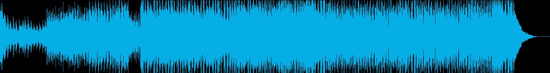 番組オープニングにぴったりのEDMの再生済みの波形