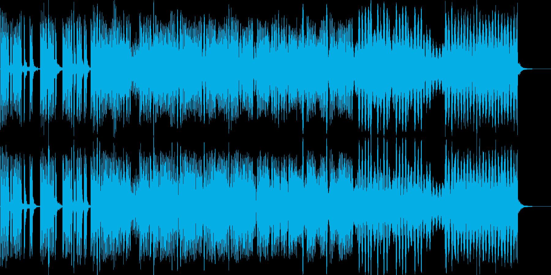 動きのある機械音の再生済みの波形