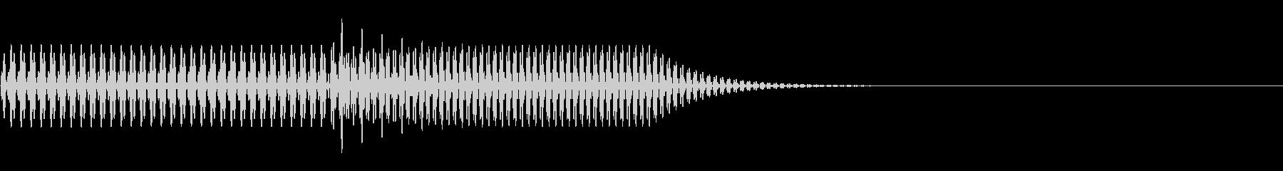シンプルな起動音:アプリやガジェットなどの未再生の波形