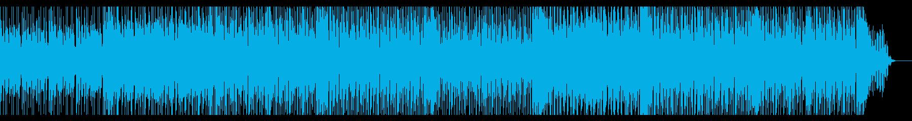 爽やかで可愛い感じのポップス曲の再生済みの波形