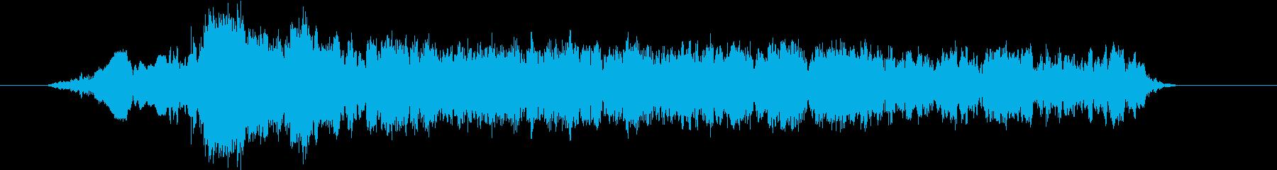 「いいいいい」デスボイス(高い声)の再生済みの波形