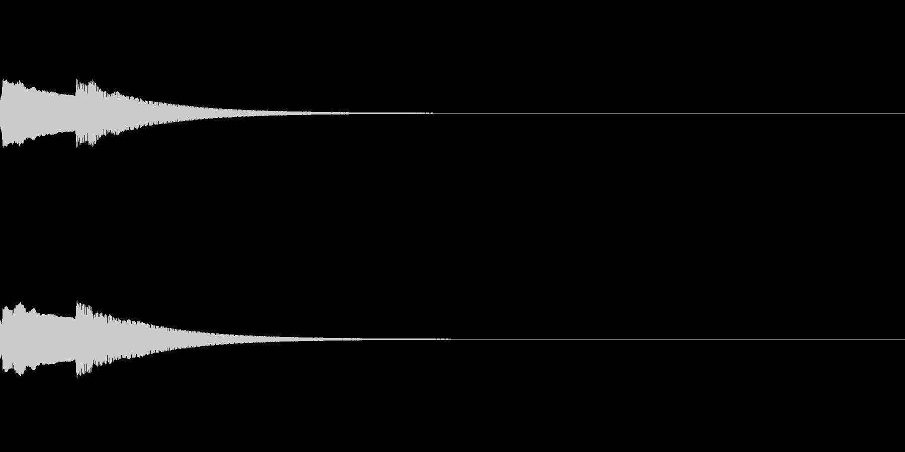 早めのピーンポーン(昔の呼び鈴)の未再生の波形
