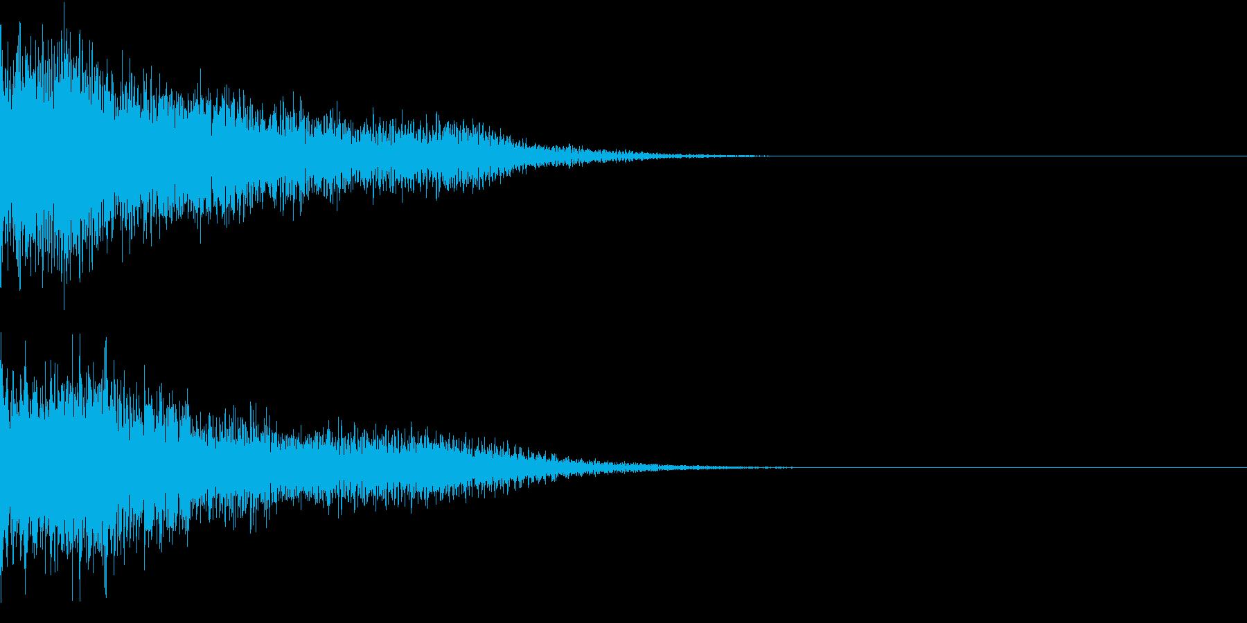 衝撃 金属音 恐怖 震撼 ホラー 02の再生済みの波形