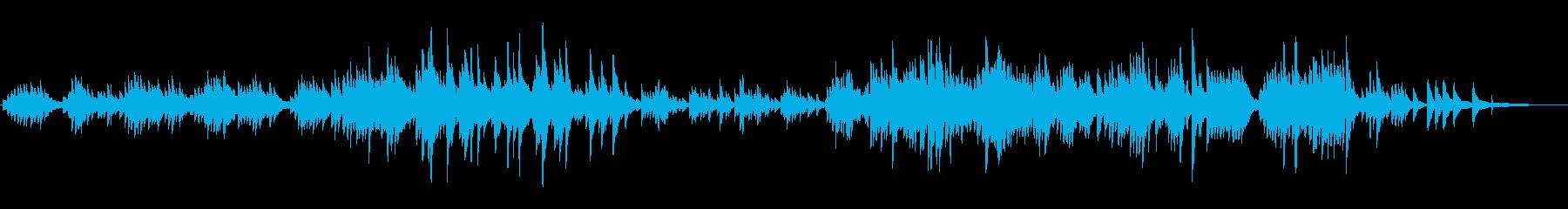 優しいピアノソロ曲の再生済みの波形